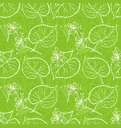 Linden leaves seamless vector