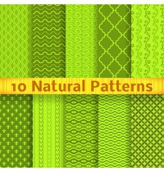 Natural seamless patterns tiling vector image