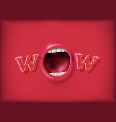 Open mouth vector