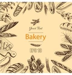 sketch - bakery loaf vector image vector image