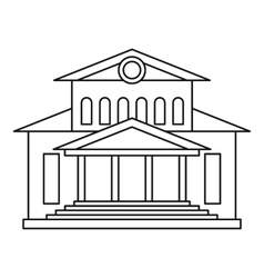Theater building icon outline style vector