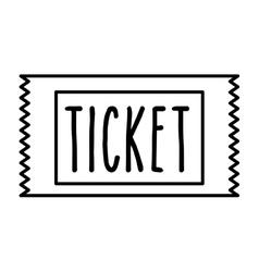 ticket cinema isolated icon design vector image vector image