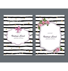 Universal romantic card template with pink vector image