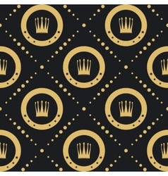 Crown golden pattern seamless vector image