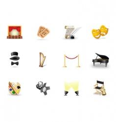 arts logos vector image