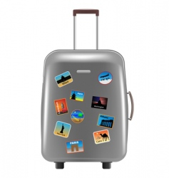 object suitcase vector image