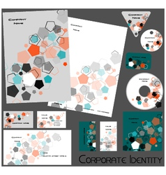 Corporate identity template no 16 2 vector
