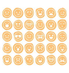 Set of smiley icons isolated vector