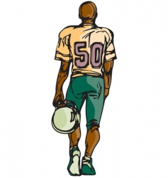 Football player sketch vector
