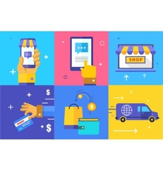 Infographics background e-commerce business vector