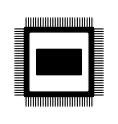 Microchip icon vector