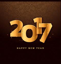 3d lettering for 2017 in golden color vector