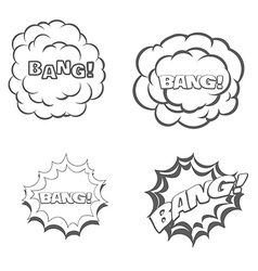 Bang blast flash comics blow isolated on white vector