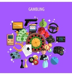 Gambling and games concept vector