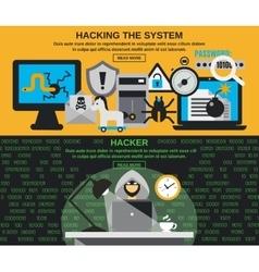 Hacker banner set vector