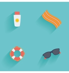 Summer vacation objects vector