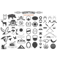 hunting label renerator vector image