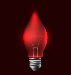 a realistic red bulb with pulse vector image