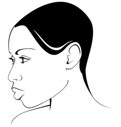 African- American woman vector image