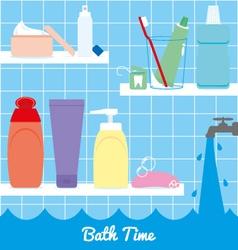 Bath time vector