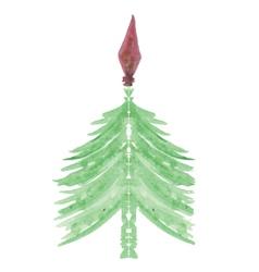 christmas green tree vector image