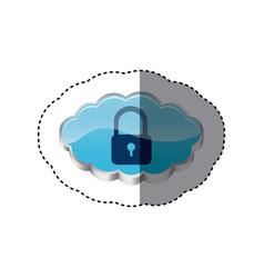 Cloud ladlock security network vector