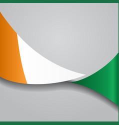 Cote d ivoire wavy flag vector