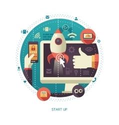 flat design start up business vector image