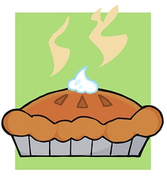 Hot Thanksgiving Pie vector image vector image