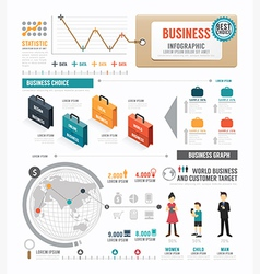 Infographic Business world template design vector image