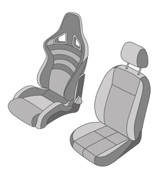 Isolated Car Seat set vector image vector image