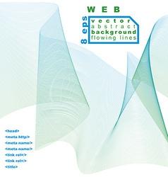 Light soft composition 3d wavy decorative ribbon vector image vector image