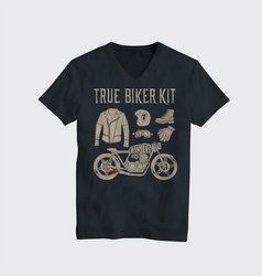 motorcycle t-shirt design vector image