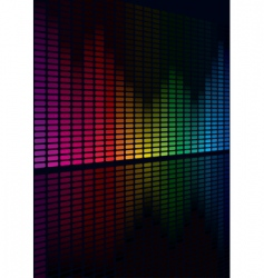 multicolor graphic equalizer vector image vector image