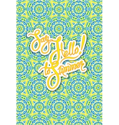 ornament card summer 1 380 vector image
