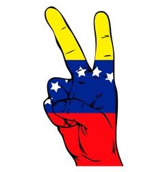 Peace sign of the venezuelan flag vector
