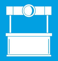 Shopping counter icon white vector