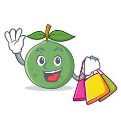 Shopping guava character cartoon style vector