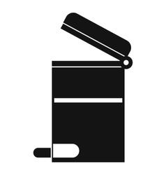 Steel trashcan icon simple style vector