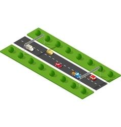 Transport urban road vector