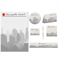 vector business template collection vector image vector image