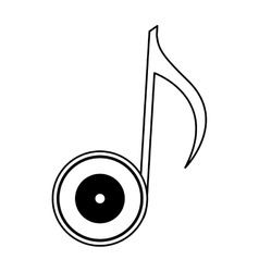Vinyl with music note vector