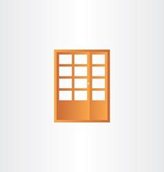 Wooden door design element vector