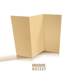 Blank tri-fold brochure design isolated vector