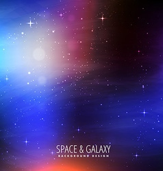 Bright colors space background vector
