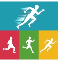 Runner athlete running design vector
