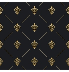Seamless pattern decor with golden element vector