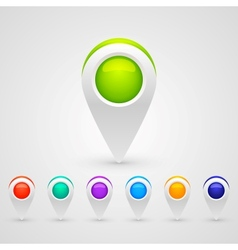 GPS Color Map Icons vector image