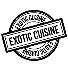 Exotic cuisine rubber stamp vector