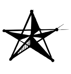 Star symbol in doodle style vector